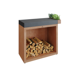 OFYR Butcher Block Storage 90 Corten Céramique Gris Anthracite