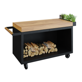 Mise en Place Table Black 135 PRO Bois de Teck