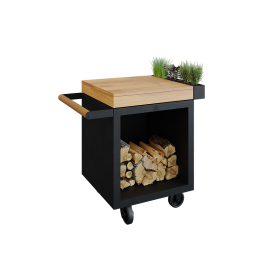 Mise en Place Table Black 65 PRO Bois de Teck