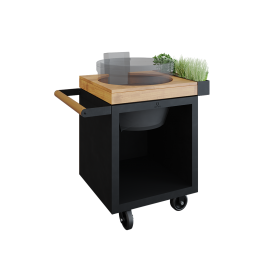 OFYR Kamado Table Black 65 PRO Bois de Teck KJ