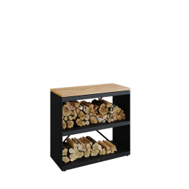 Wood Storage Black Dressoir